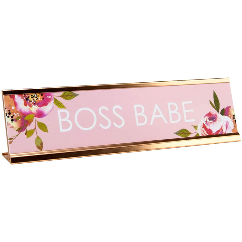 Boss Babe desk plaque