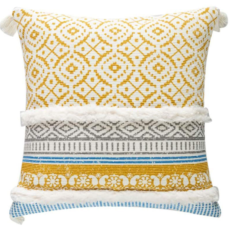 Decorative Throw Pillow Cover Yellow