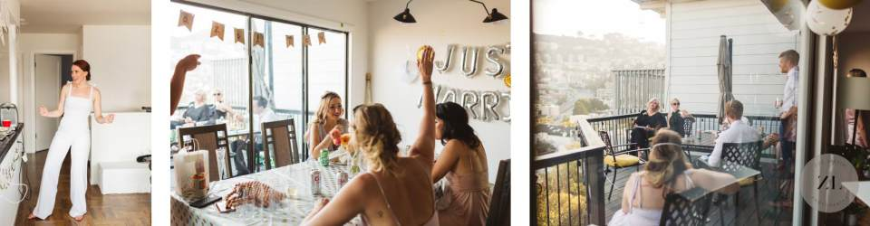 candid photos from a safe backyard wedding in san francisco that took place during the COVID pandemic