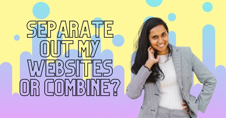 The pros and cons of merging two websites - explained in depth by Zoe of zoelarkin.com