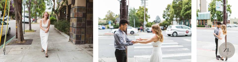 first look nerves as couple sees each other for first time before wedding