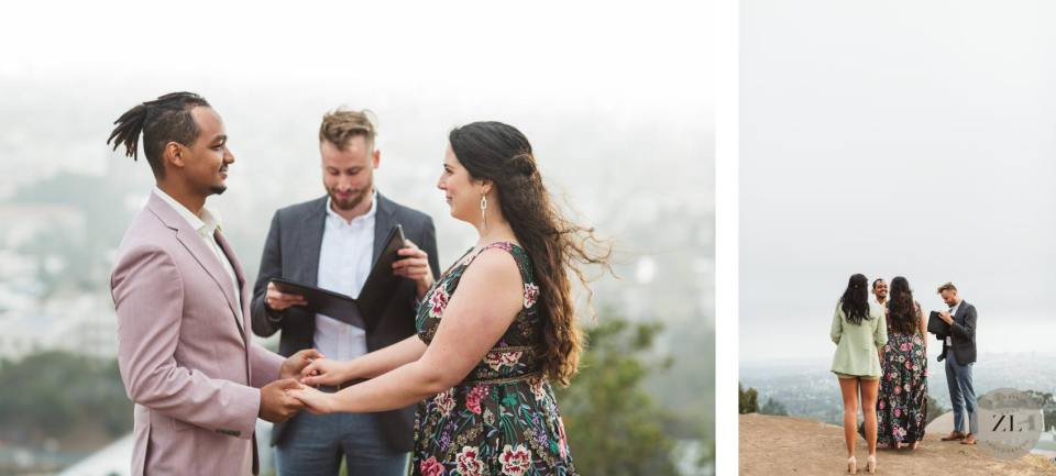 bay area covid wedding ceremony ideas in the berkeley hills, california next to Lawrence Science Hall