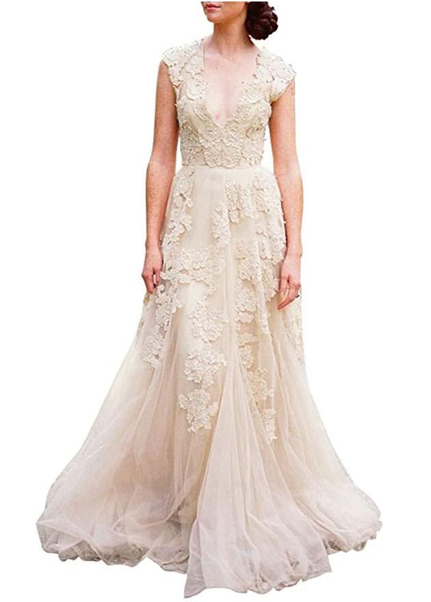 affordable wedding dresses on amazon - boho dresses under $200