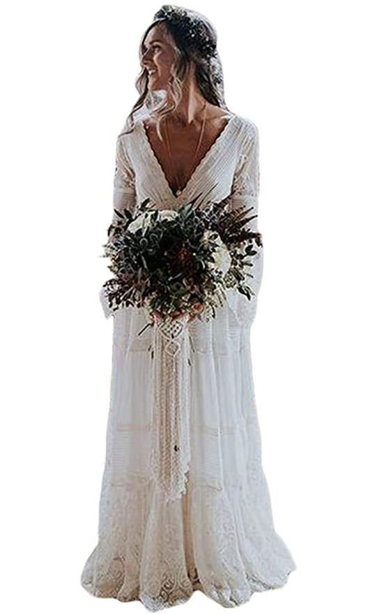 stunning boho wedding dresses under $200 available on amazon