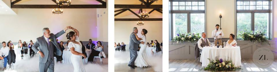 first dance and toasts at a Latino Wedding at Oceano Hotel and Spa, in Half Moon Bay