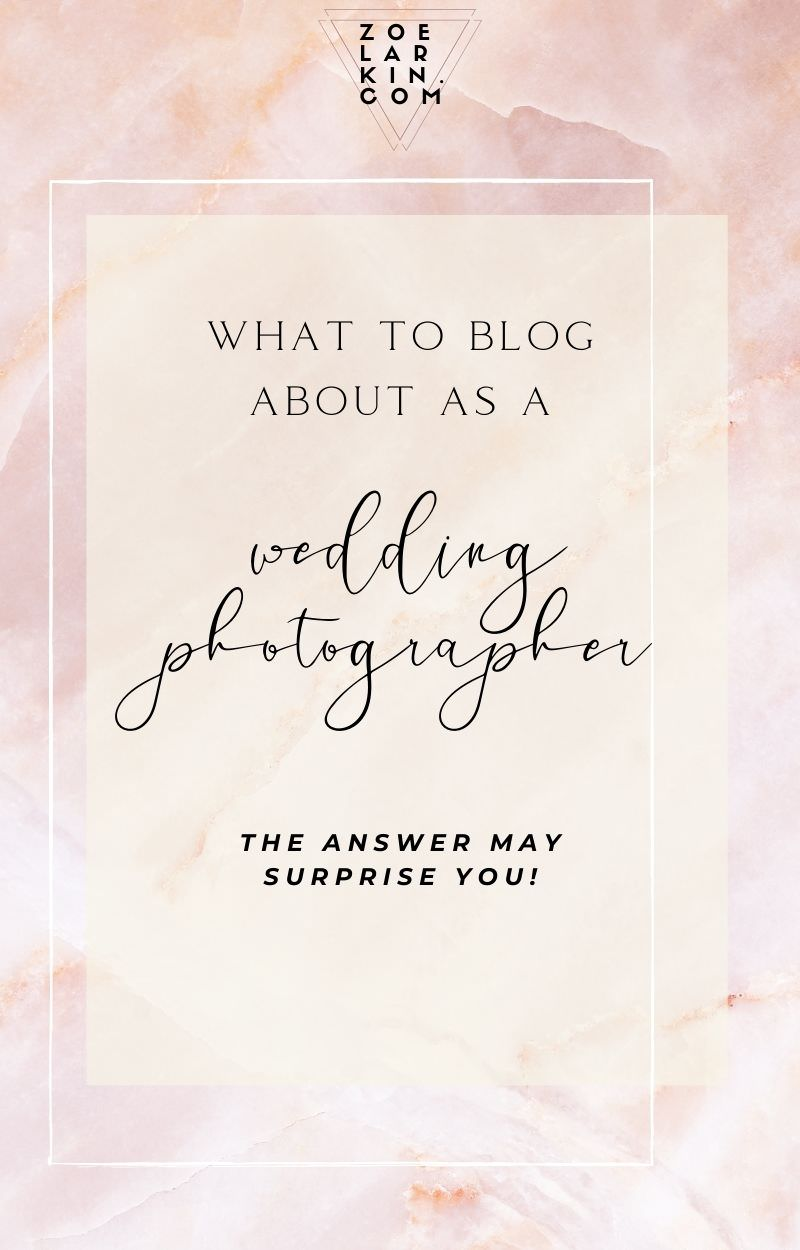 Are you wondering if there's any point blogging for your photography business? Are you wondering what people mean when they say blogging is 'good for SEO'? Fear not! I'll take you through the basics of how, why, what and whether to blog as a wedding photographer. A bank of valuable blog content is what will set you apart, even enabling you to charge higher prices! Start your photography blog today with these expert tips from Zoe! | #bloggingforphotographers #blogging | zoelarkin.com