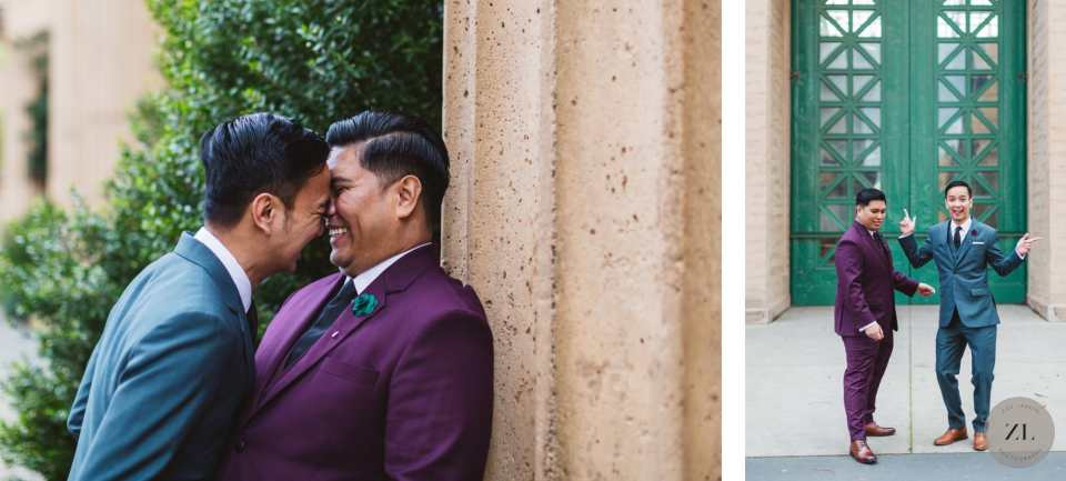 photos by Zoe Larkin of a destination held in San Francisco with a gay couple from the Philippines