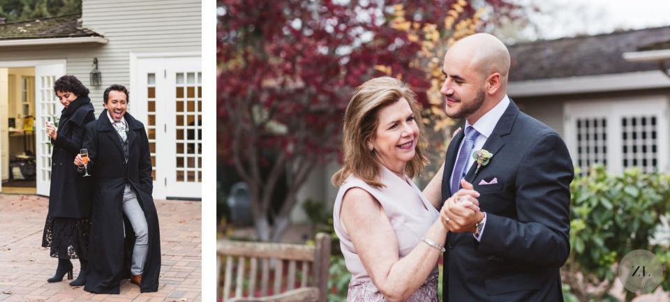 parent dances at intimate wedding venue, bay area