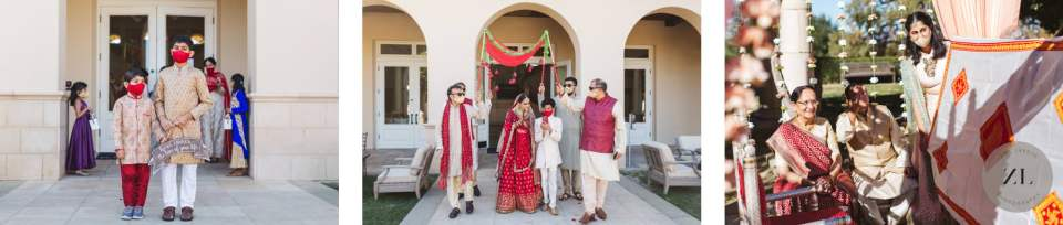documentary-style wedding photography by Zoe Larkin Photography showing indian wedding ceremony procession