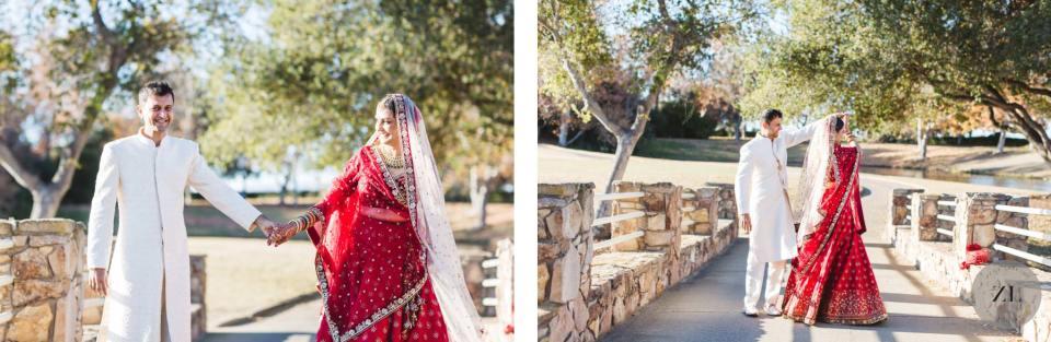 ruby hill wedding photos on the bridge over the pond - Zoe Larkin Photography