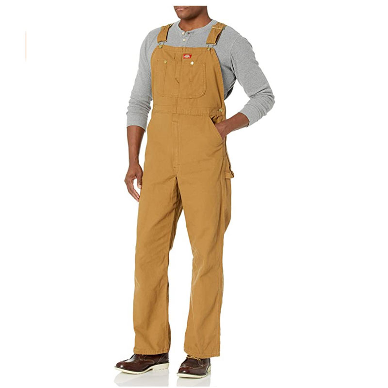 dickies mustard overall bib for men and women - stylish and comfortable