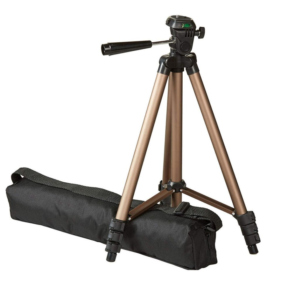 very basic and lightweight tripod available on amazon great for wedding livestreams