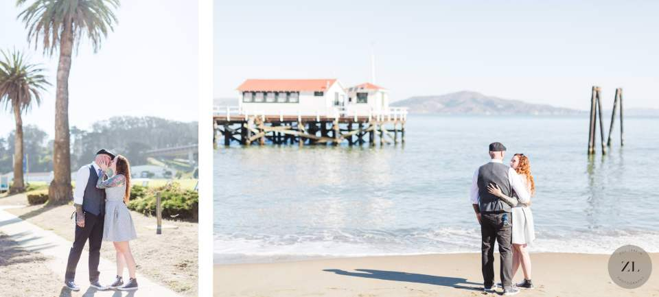 stunning elopement wedding photos at Crissy Field in San Francisco by Zoe Larkin Photography