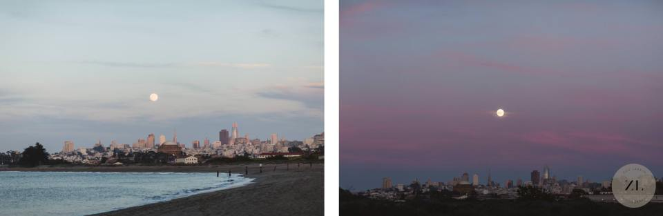 stunning views of the san francisco city skyline taken from the