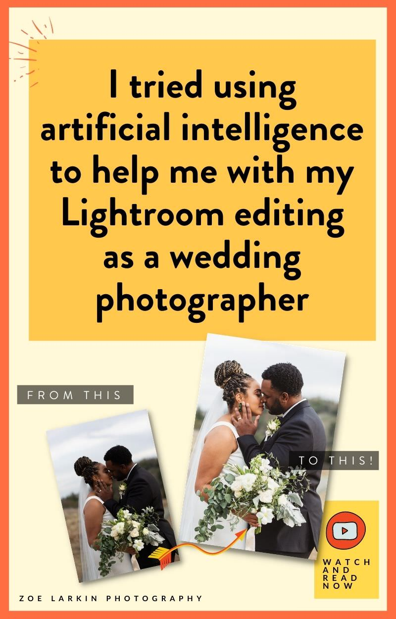 Do you want to speed up your photo editing workflow in Lightroom as a busy wedding photographer? I wanted to outsource my editing but didn't have the budget, but knew editing wasn't a good use of my time as a business owner. Enter ImagenAI! The AI tool integrates seamlessly with Lightroom to edit your photos according your own unique photo editing profile that trains its algorithm. Editing a whole wedding takes minutes, no need to train a human & it costs a fraction of the price! zoelarkin.com