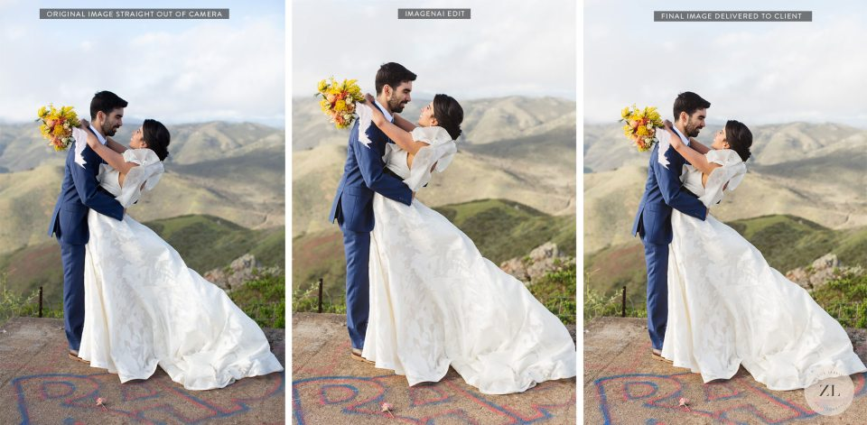 Review of ImagenAI before and after wedding photos
