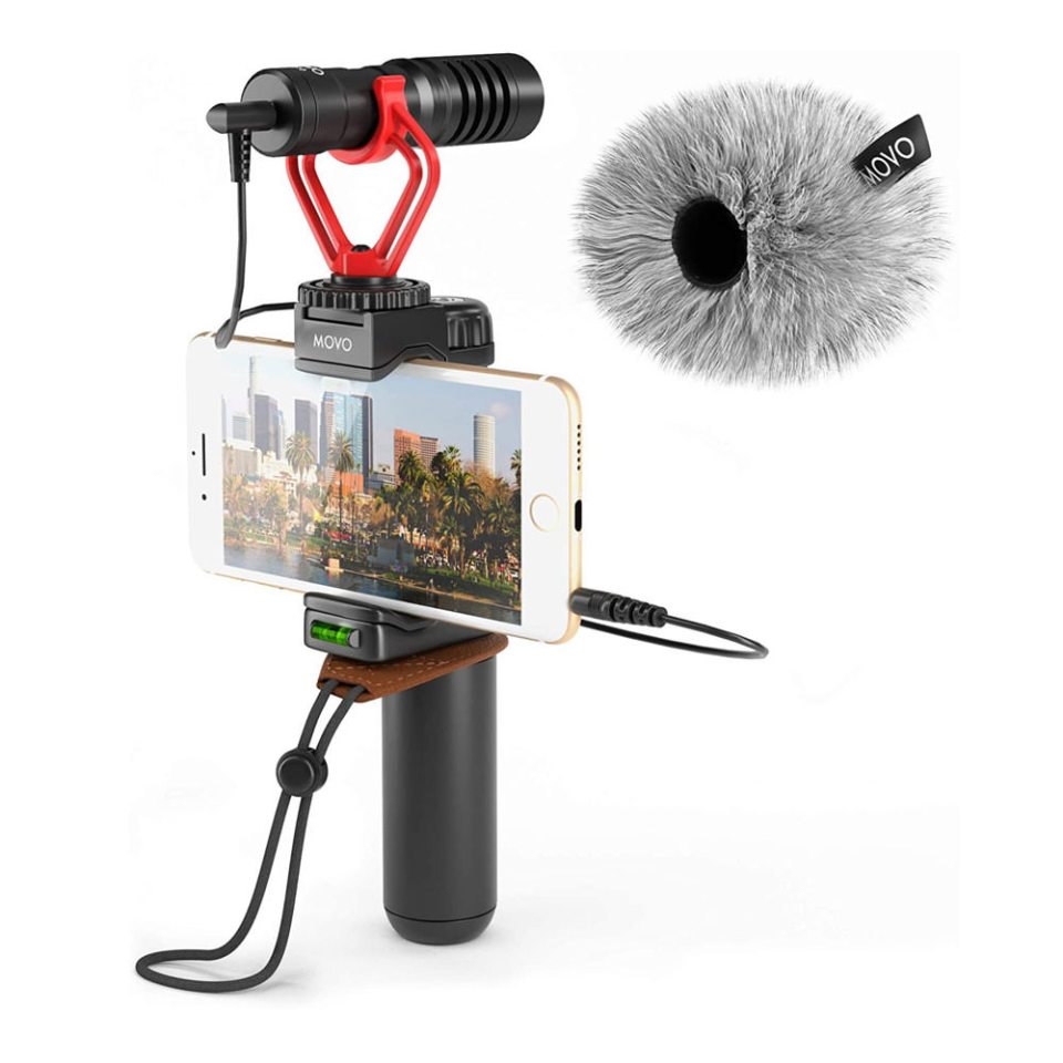Movo Smartphone video rig with shotgun microphone - for livestreaming wedding DIY