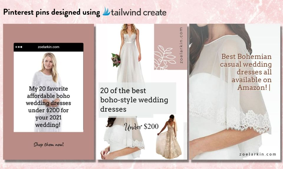 sample Tailwind Create pins - how to use Tailwind Create to create stunning Pinterest pins