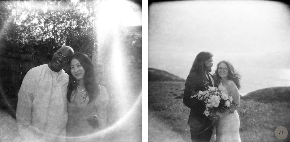 Holga 120 wedding photo sample