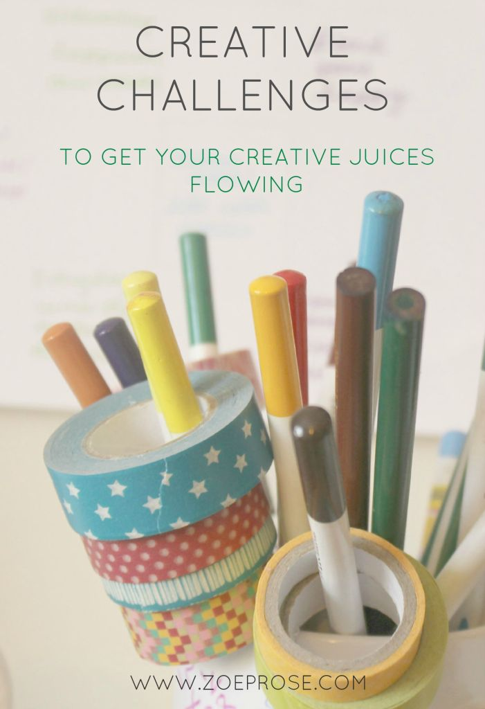 Want to be more creative but don't know where to start? Stuck staring at a blank page? Click to read some great ideas of challenges to take part in that are guaranteed to get your creative juices flowing.