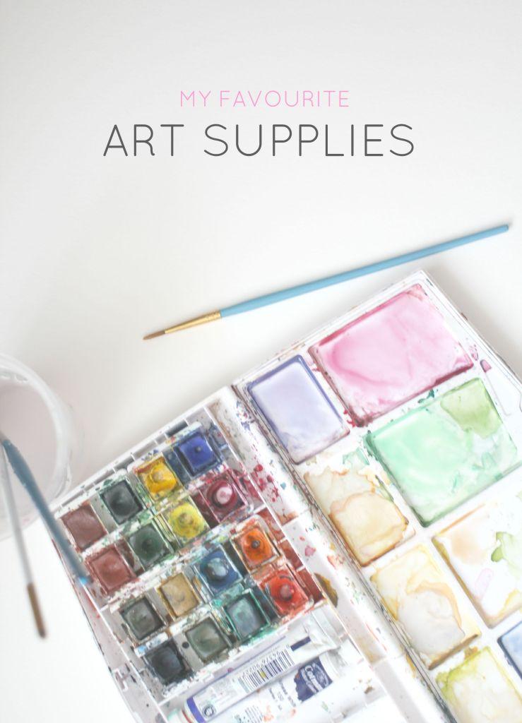 Favourite art supplies- Zoeprose blog