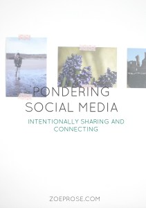 Social media- are we really connecting or just spending time on something that doesn't enrich us? What should we share and where do we draw the lines? Some ponderings, click to read the full blog post.