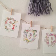 Custom floral name garland   Zoeprose floral alphabet perfect for a nursery