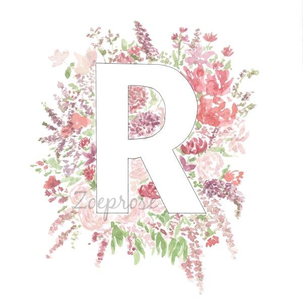 RAlphabet floral print   Zoeprose