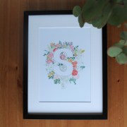 S floral alphabet print | Zoeprose