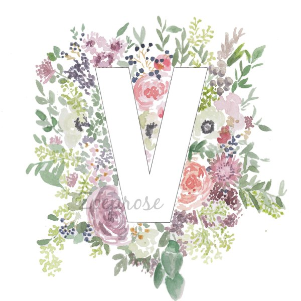 Gorgeous floral alphabet letter print | Zoeprose