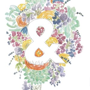 Ampersand floral print | Zoeprose - would be so sweet joined with two of the other alphabet letters in a master bedroom