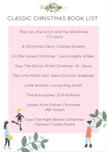 Cassic christmas booklist- grab a free printable by clicking through!