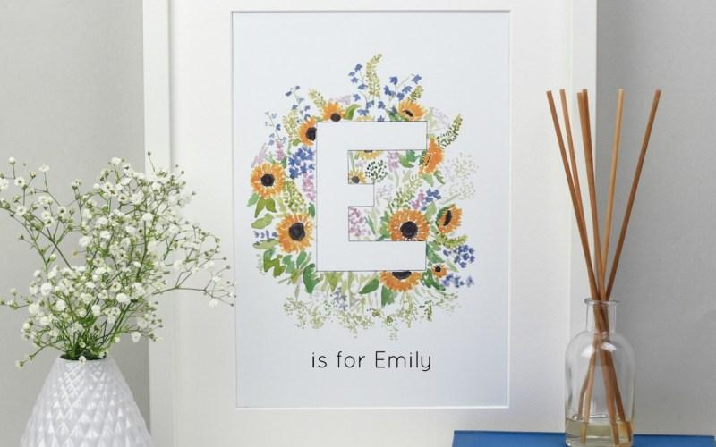 Personalised Alphabet Print