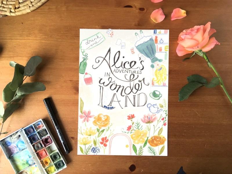 Alice in Wonderland Bookcover Print