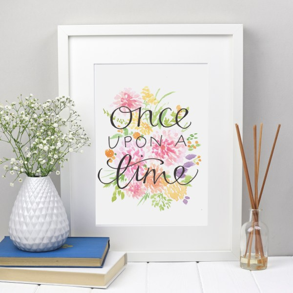 once upon a time print | Zoeprose fairytale print nursery room decor