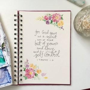 abundant life | John 10:10 Bible lettering