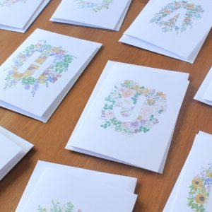 Floral Letter Card