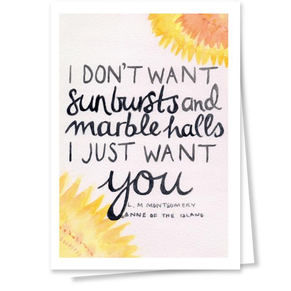 Anne starburst card