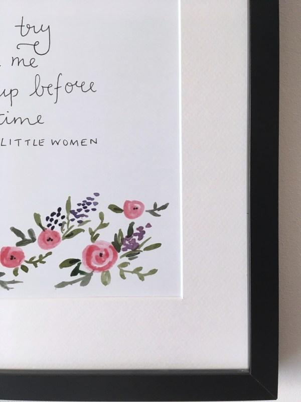Little Women quote print   Zoeprose watercolour print