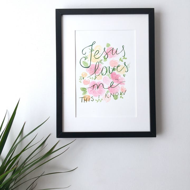 Be thou my vision print - A4 archival hymn lyrics art