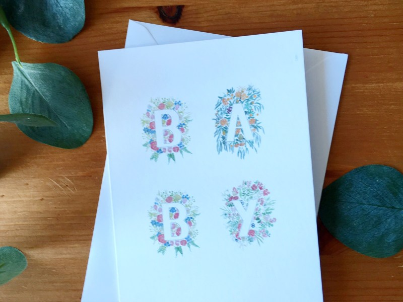 New Baby Floral Card