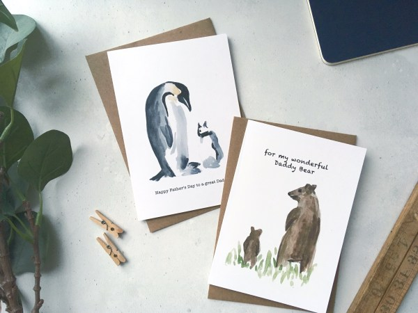 Daddy bear Father's Day card
