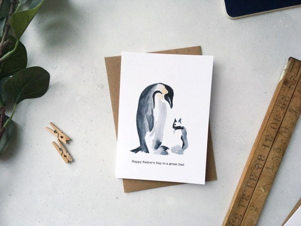 Penguin Father's Day Card