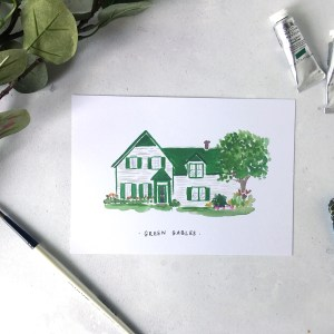 Anne of Green Gables house print A5 Zoeprose