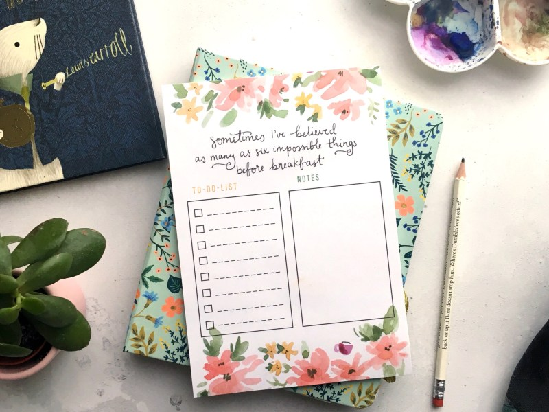 Alice in Wonderland A5 To-Do Notepad