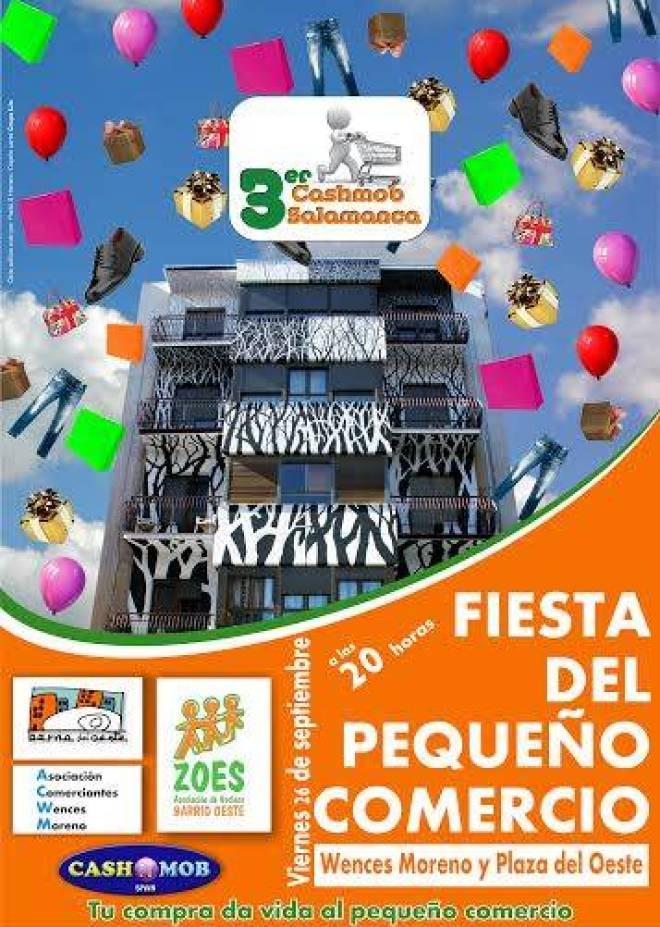 Cartel anunciador de la Fiesta del Comercio