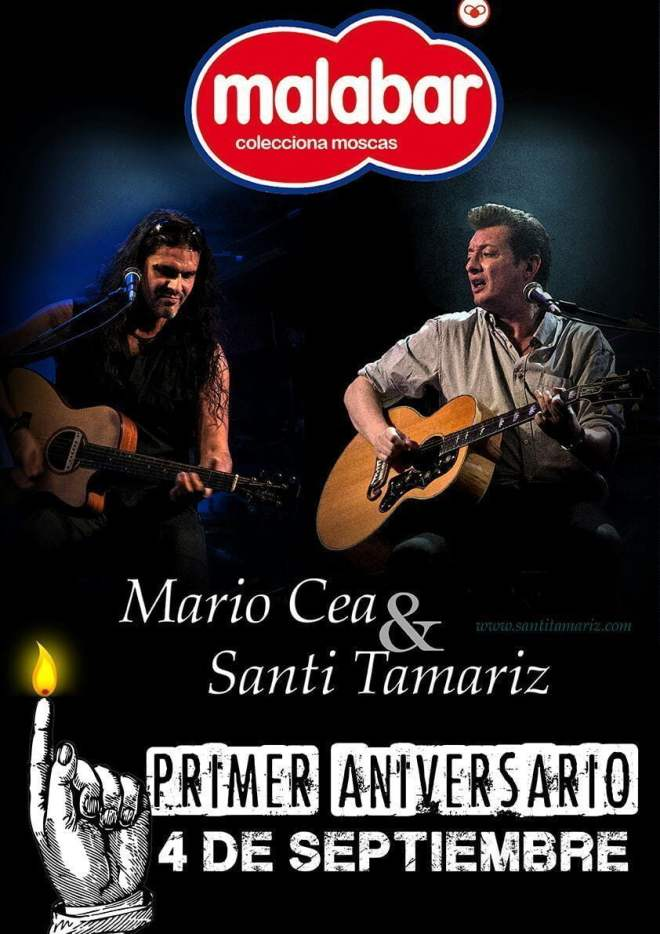 Mario Cea y Santi Tamariz actuarán en el Malabar