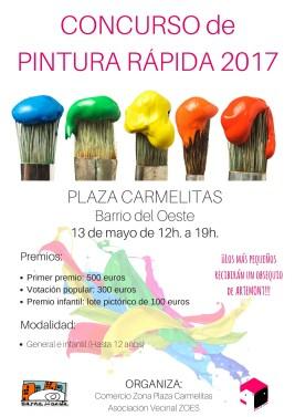 cartel concurso de pintura rápida