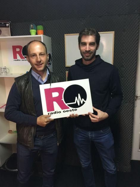 Alberto Saavedra y David Gómez en Radio Oeste