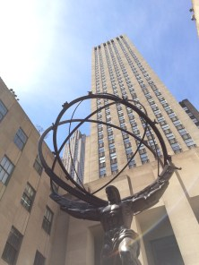 The Atlas statue from the 30Rock opening!